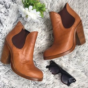 Anthropologie Shoes - Seychelles | Leather Heeled Pull On Booties